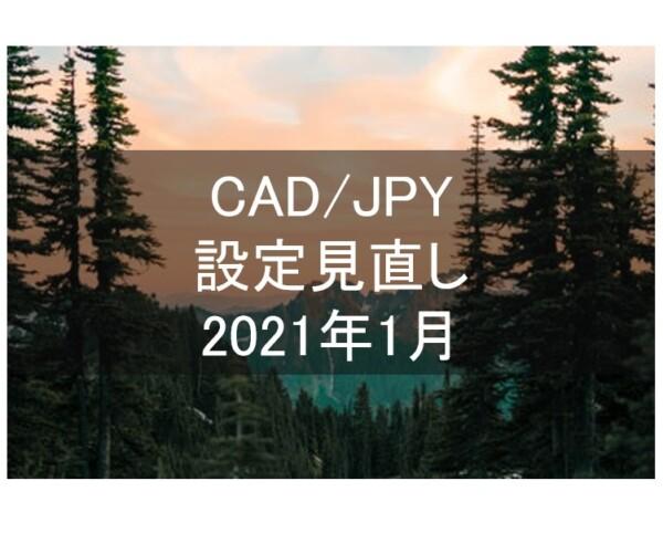 CAD/JPYの設定更新(2020年12月31日)。バックテストによる最新の利回りは26.6%になりました。
